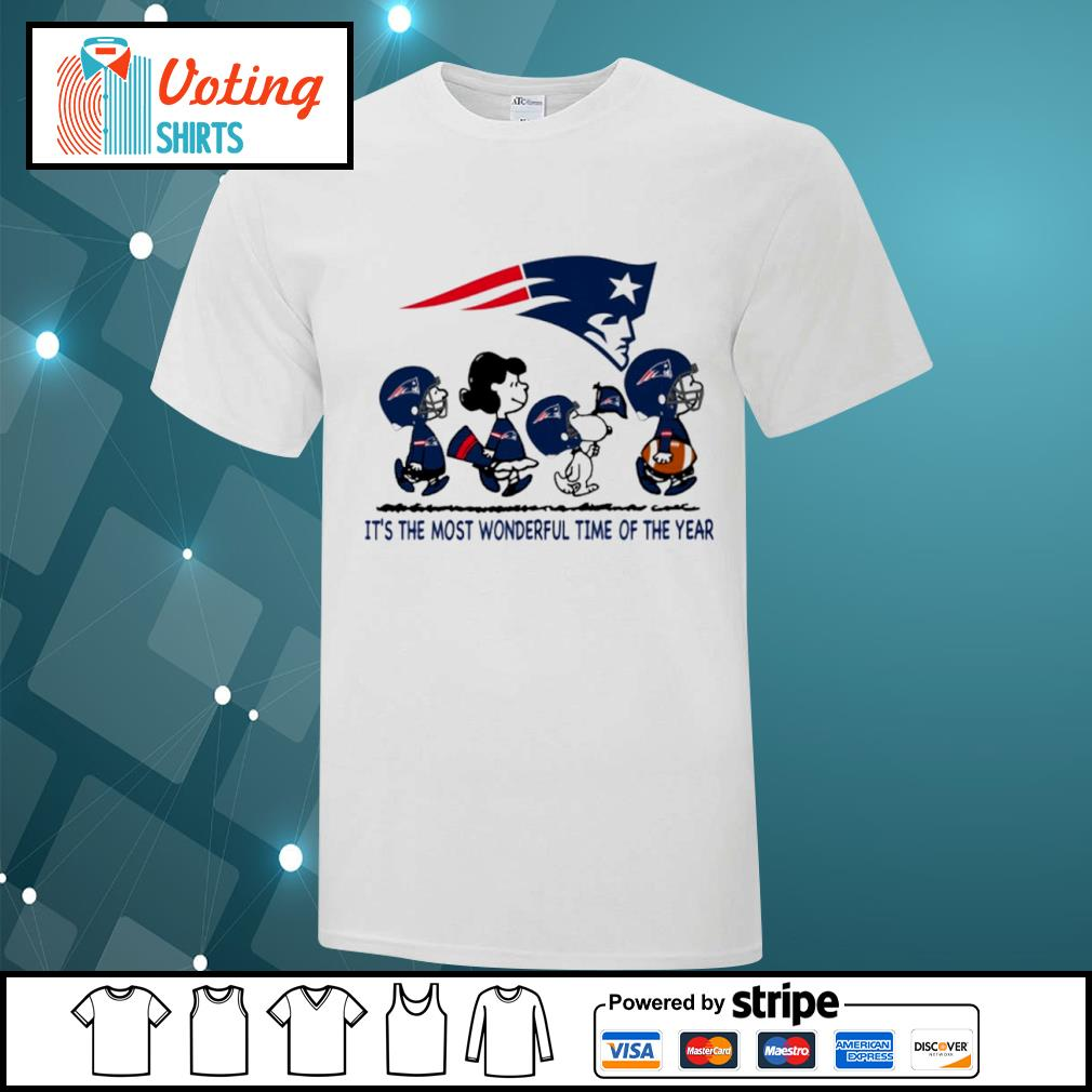 Snoopy and friends New England Patriots it's the most wonderful time of the year shirt