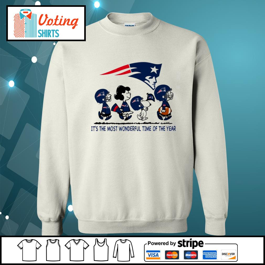 Snoopy and friends New England Patriots it's the most wonderful time of the year s sweater