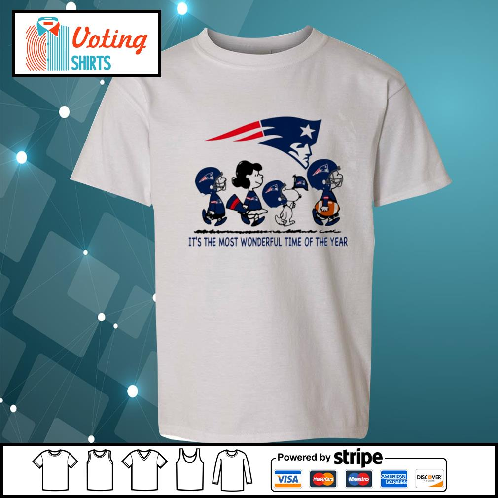 Snoopy and friends New England Patriots it's the most wonderful time of the year s youth-tee