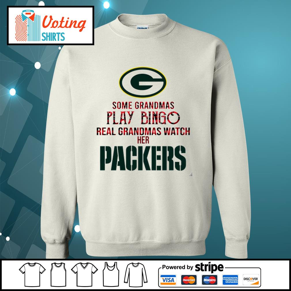 Some grandmas play bingo real grandmas watch her Green Bay Packers s sweater