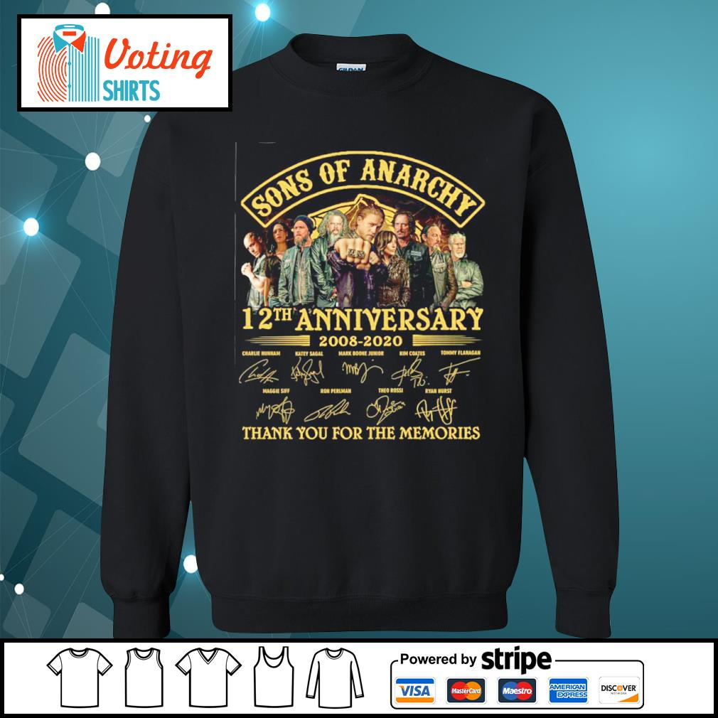 Sons of Anarchy 12th anniversary 2008 2020 thank you for the memories s sweater