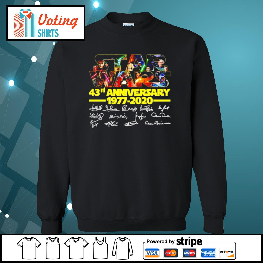 Star Wars 43rd anniversary 1977-2020 characters signatures s sweater
