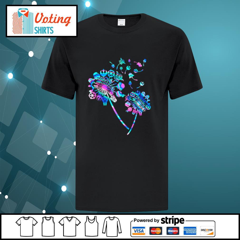 Star Wars Dandelion flowers shirt
