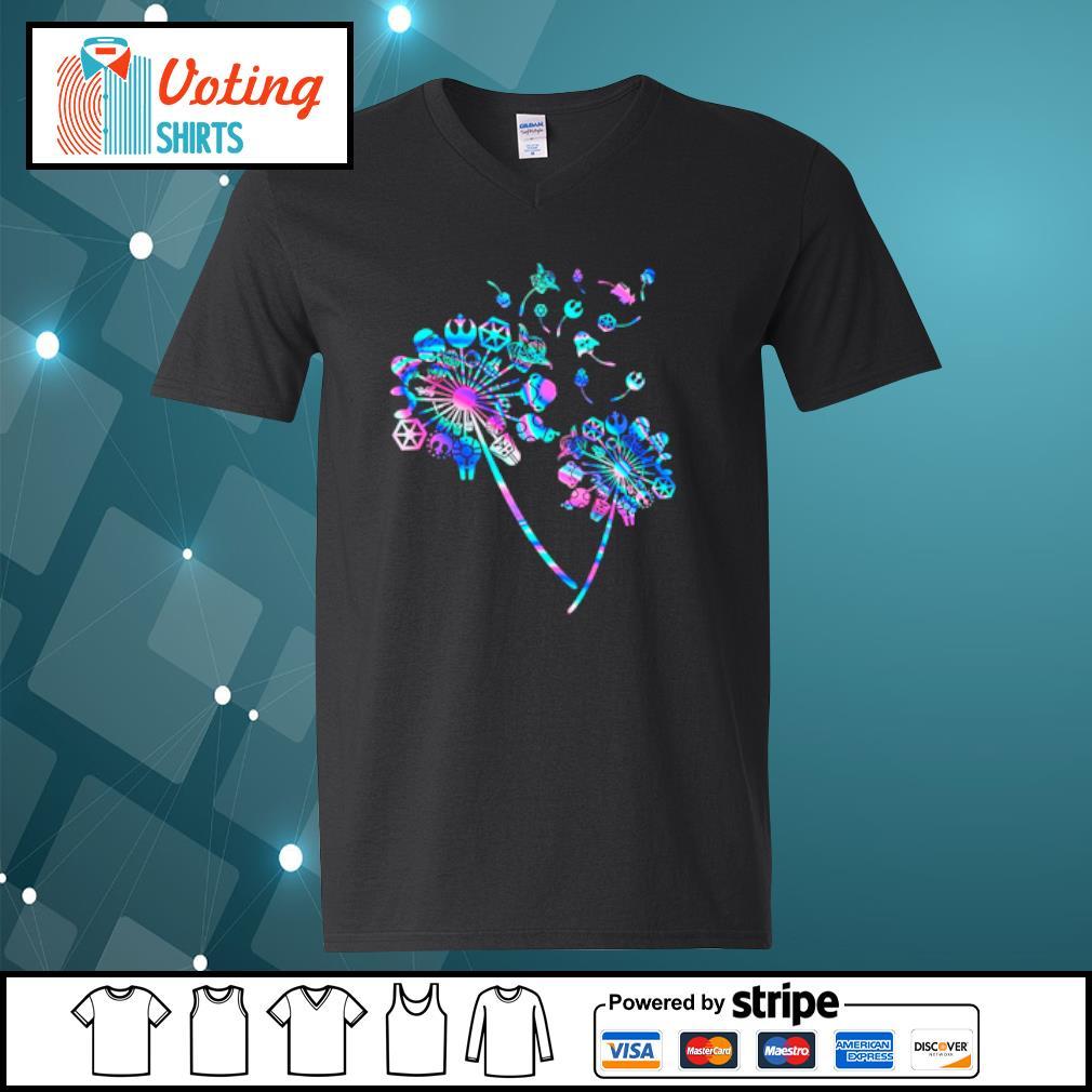 Star Wars Dandelion flowers s v-neck-t-shirt