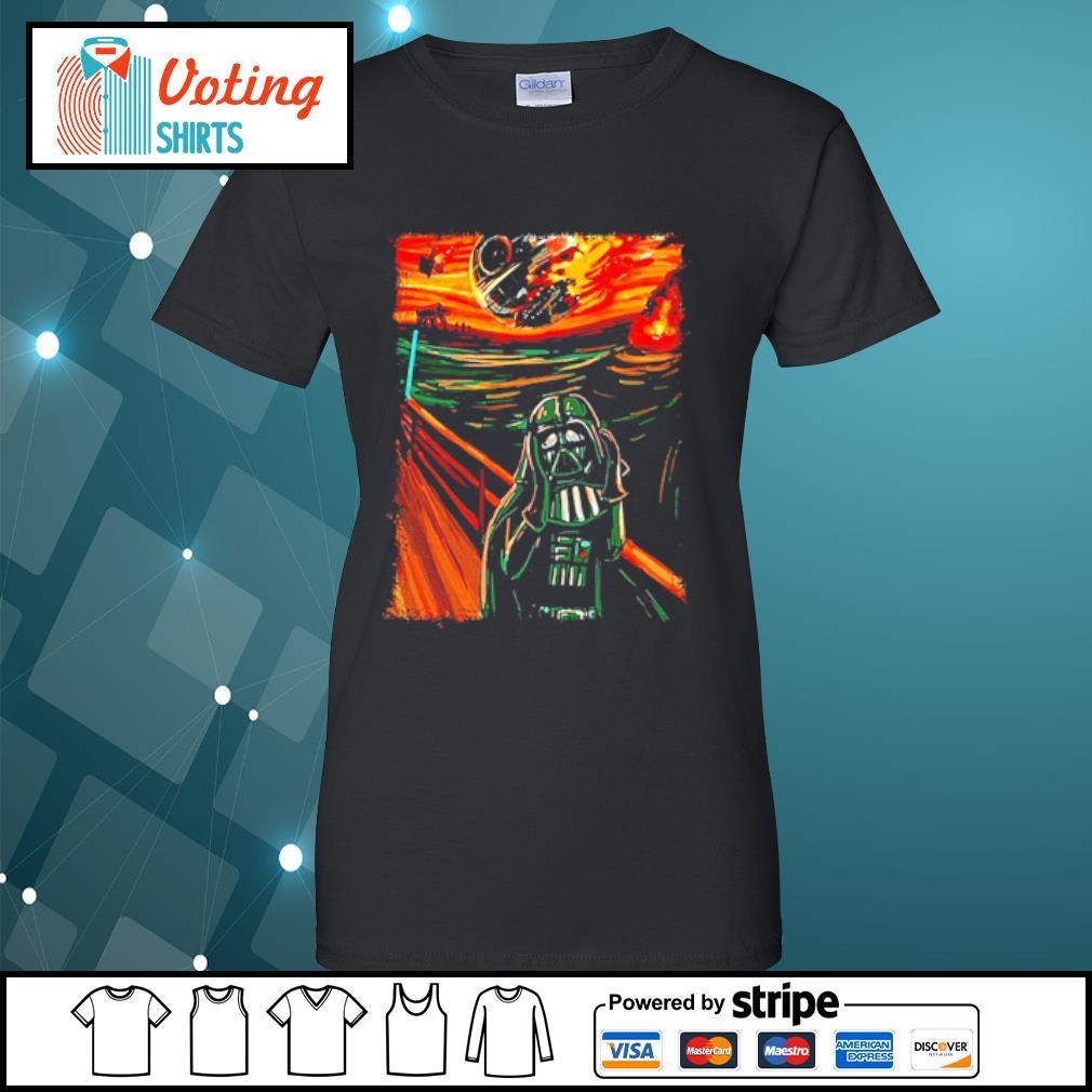 Star Wars Darth Vader The Scream old art painting s ladies-tee