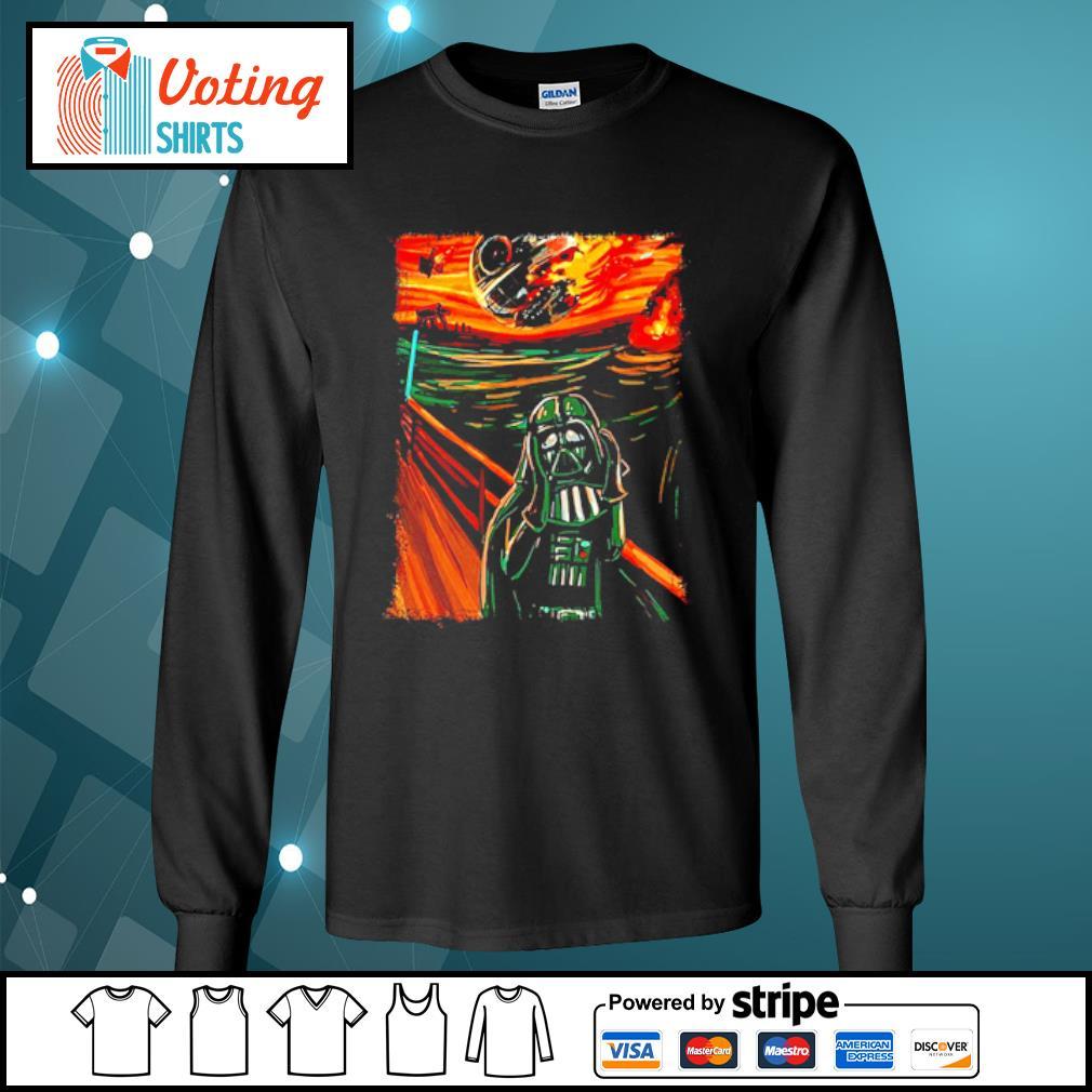 Star Wars Darth Vader The Scream old art painting s longsleeve-tee