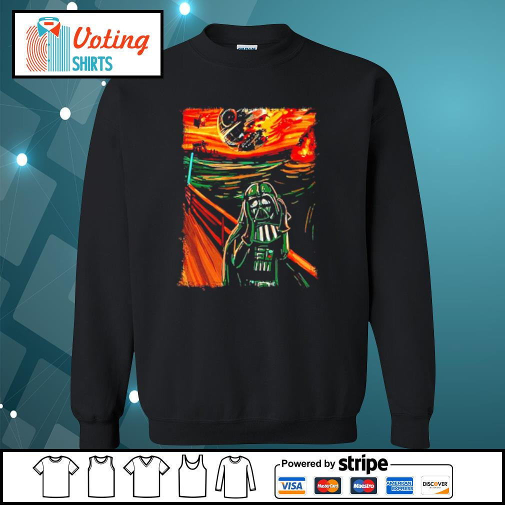 Star Wars Darth Vader The Scream old art painting s sweater