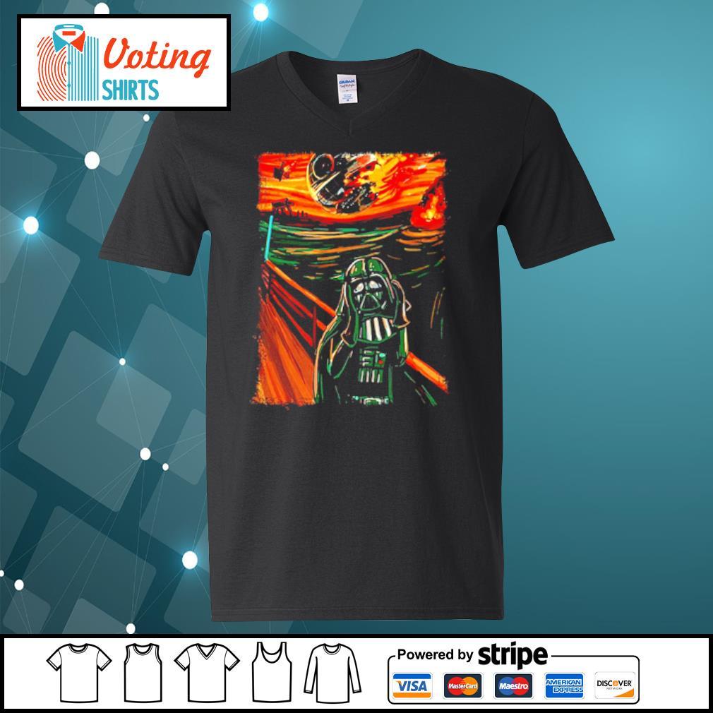 Star Wars Darth Vader The Scream old art painting s v-neck-t-shirt
