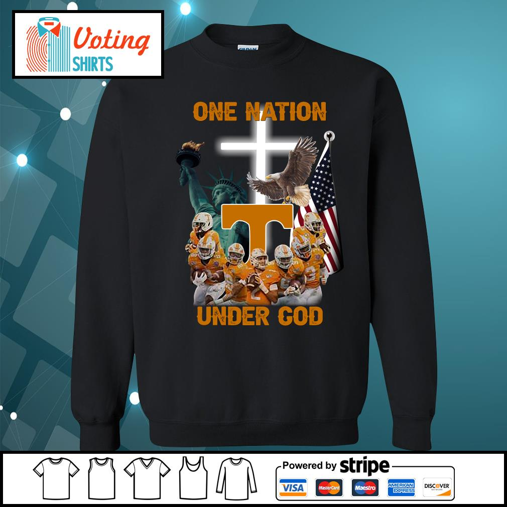 Tennessee Volunteers one nation under god s sweater