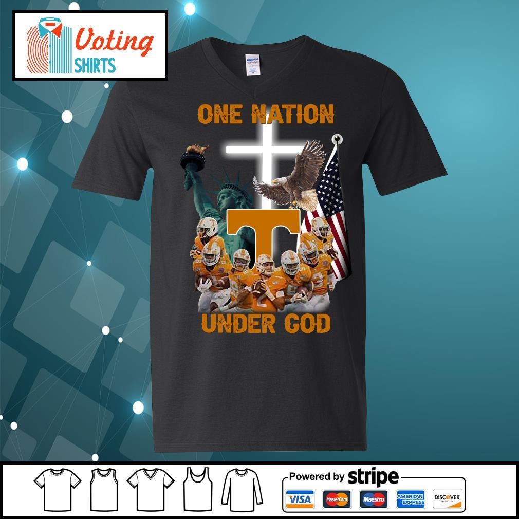 Tennessee Volunteers one nation under god s v-neck-t-shirt