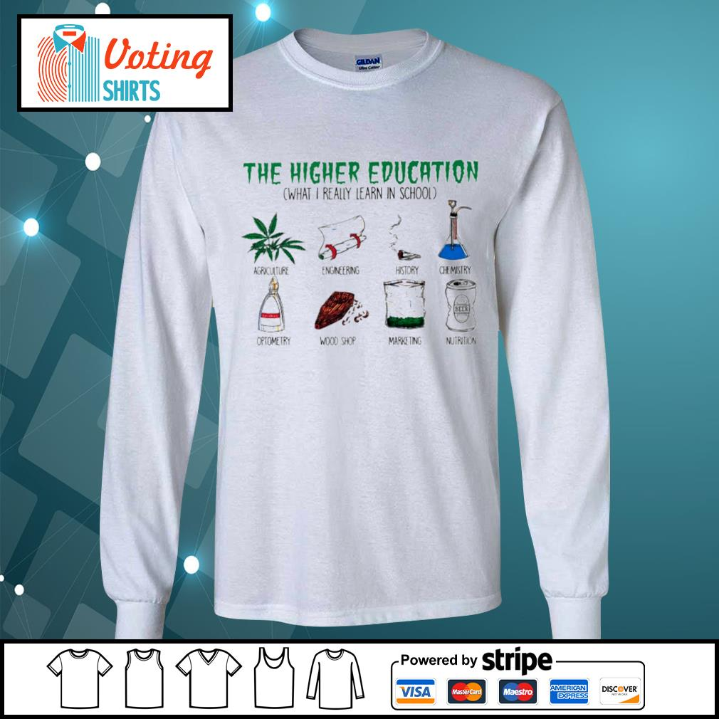 The higher education what I really learn in school agriculture engineering history s longsleeve-tee