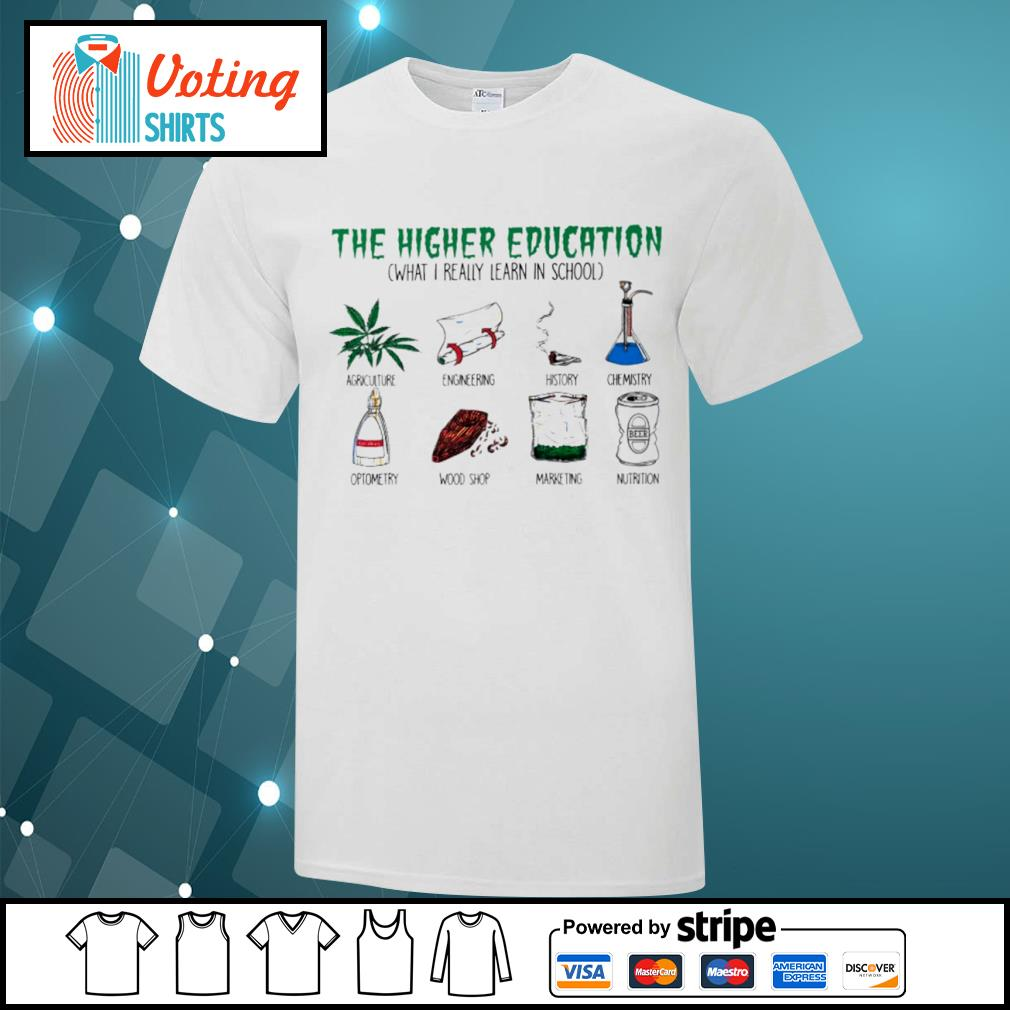 The higher education what I really learn in school agriculture engineering history shirt