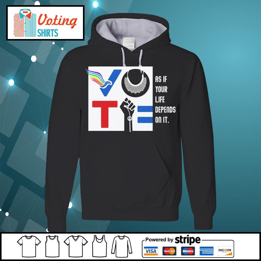 Vote American RBG Usps BLM as if your life depends on it s hoodie