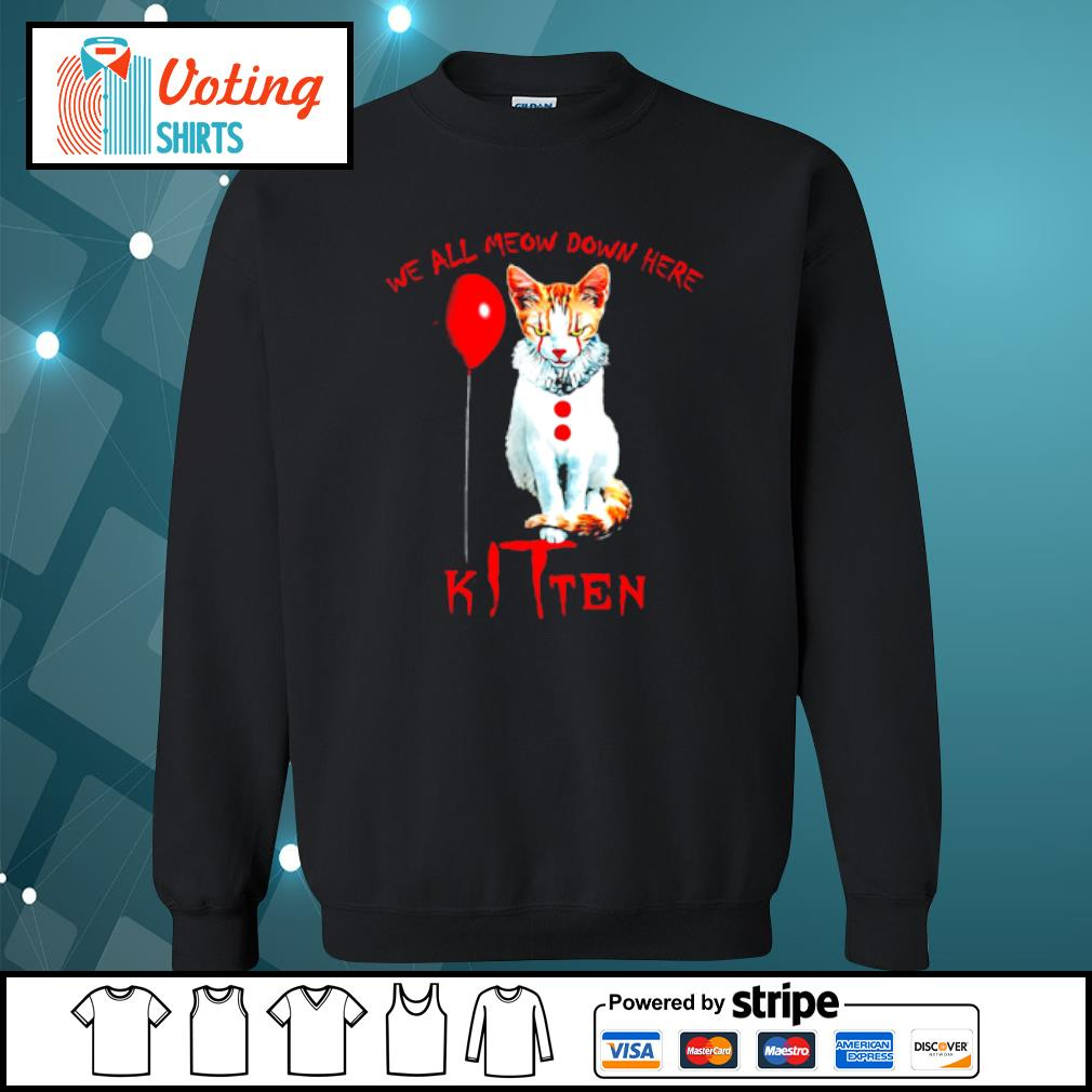 We all meow down here Kitten s sweater
