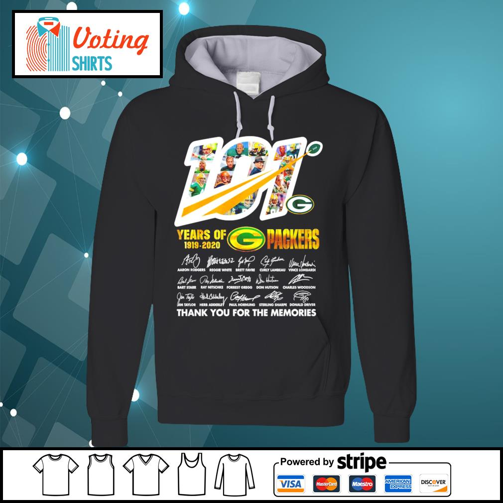 101 years of Packers 1919-2020 thank you for the memories s hoodie