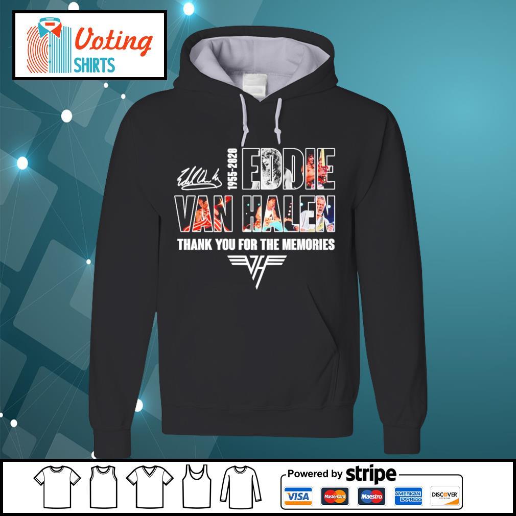 1955-2020 Eddie Van Halen thank you for the memories s hoodie