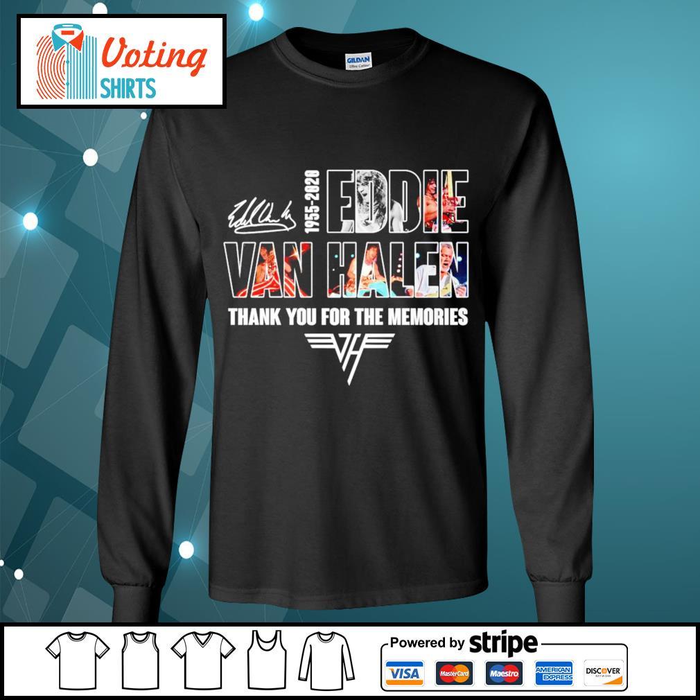 1955-2020 Eddie Van Halen thank you for the memories s longsleeve-tee