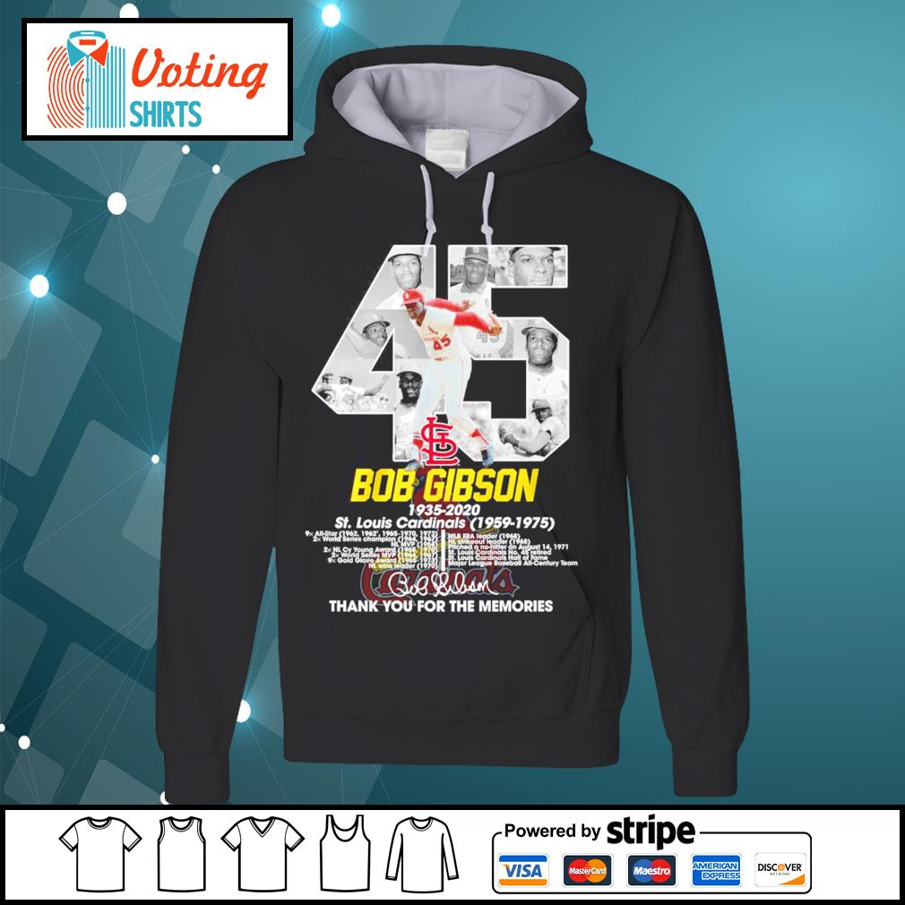 45 Bob Gibson 1935-2020 thank you for the memories s hoodie