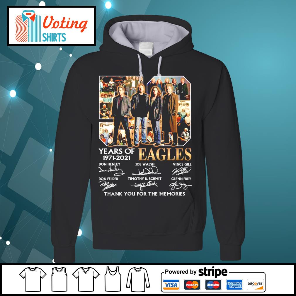 50 years of Eagles 1971-2021 thank you for the memories s hoodie