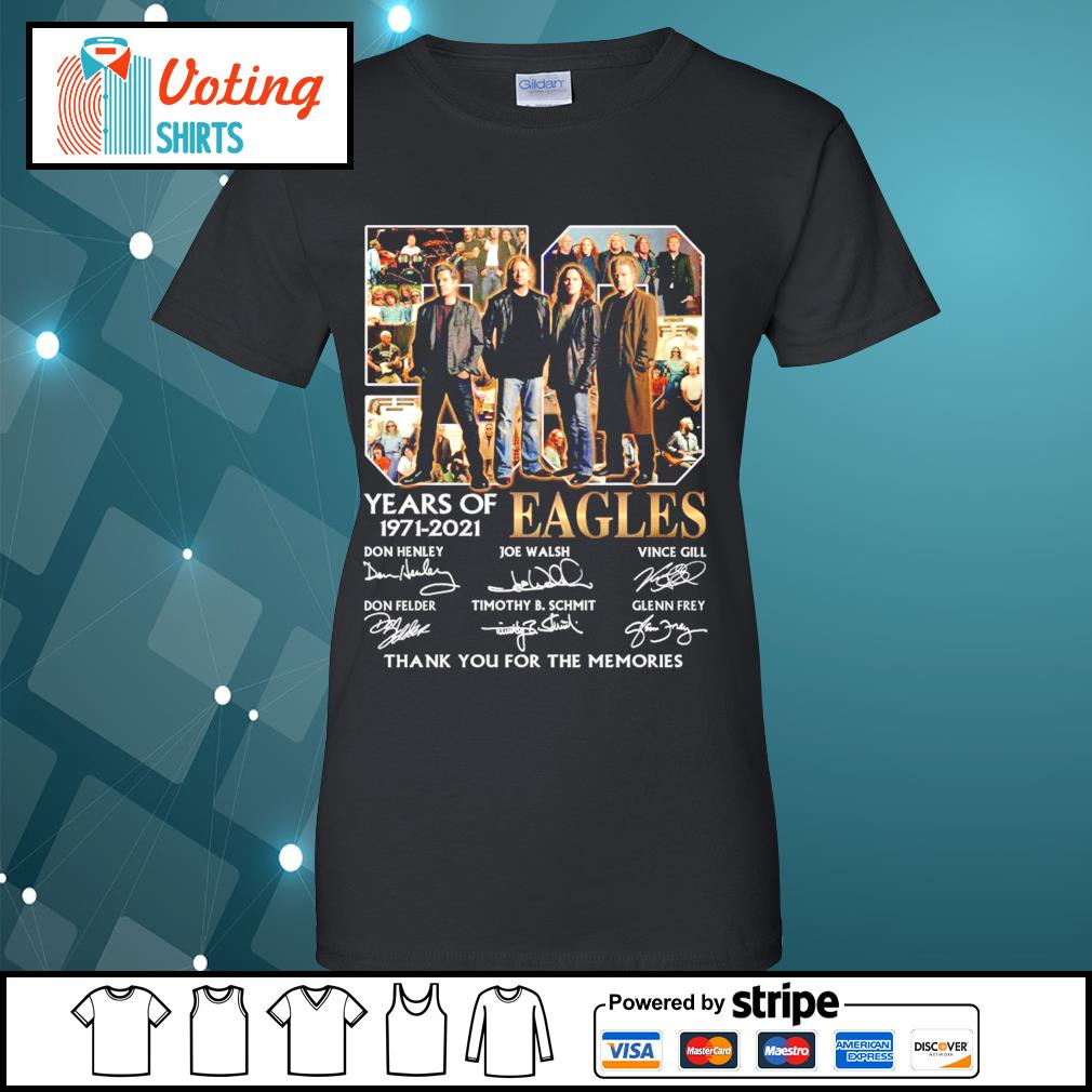 50 years of Eagles 1971-2021 thank you for the memories s ladies-tee
