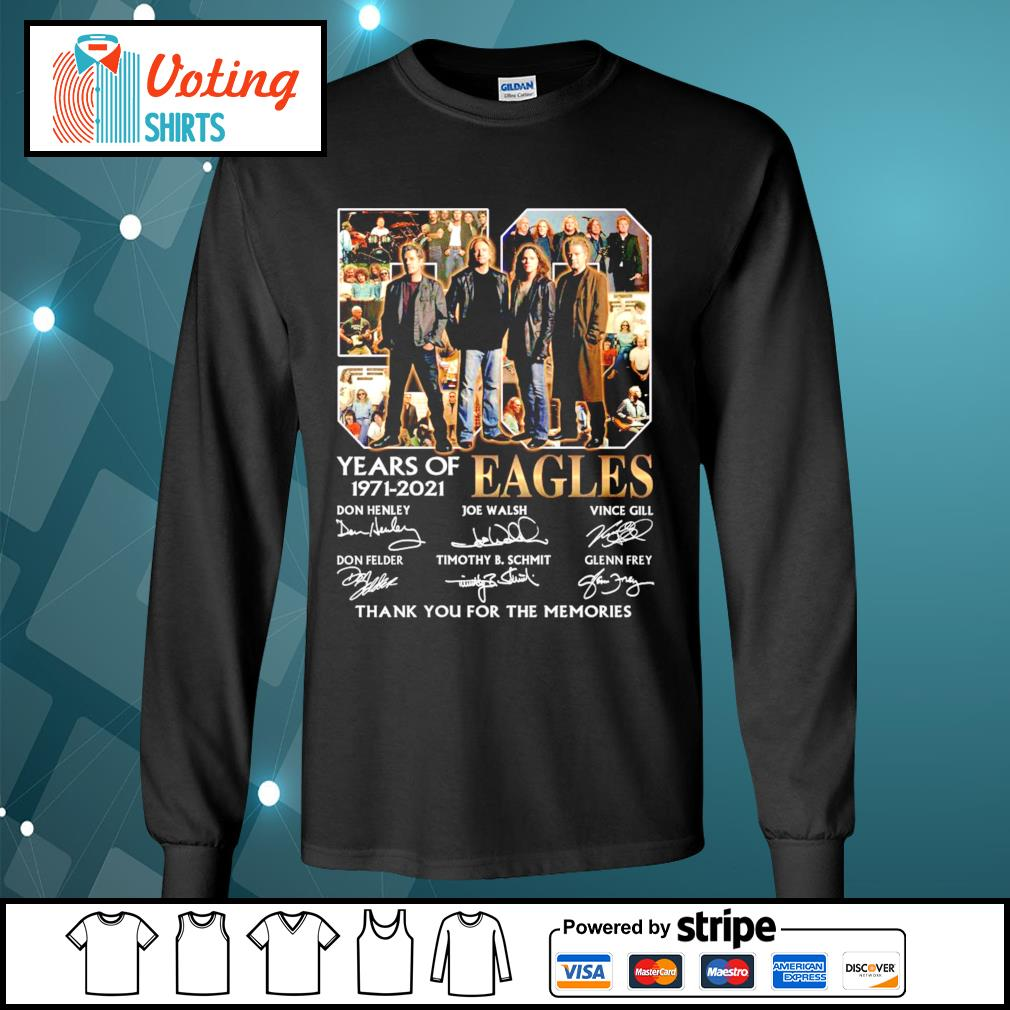 50 years of Eagles 1971-2021 thank you for the memories s longsleeve-tee