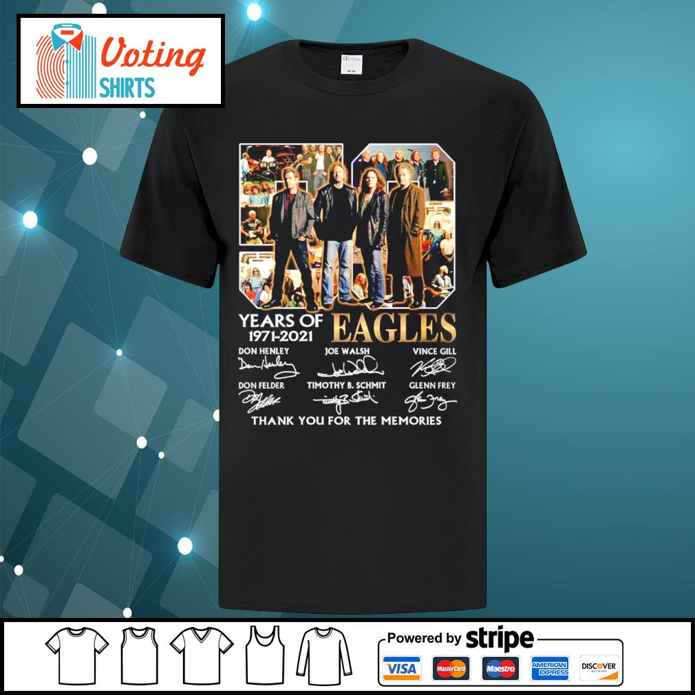 50 years of Eagles 1971-2021 thank you for the memories shirt