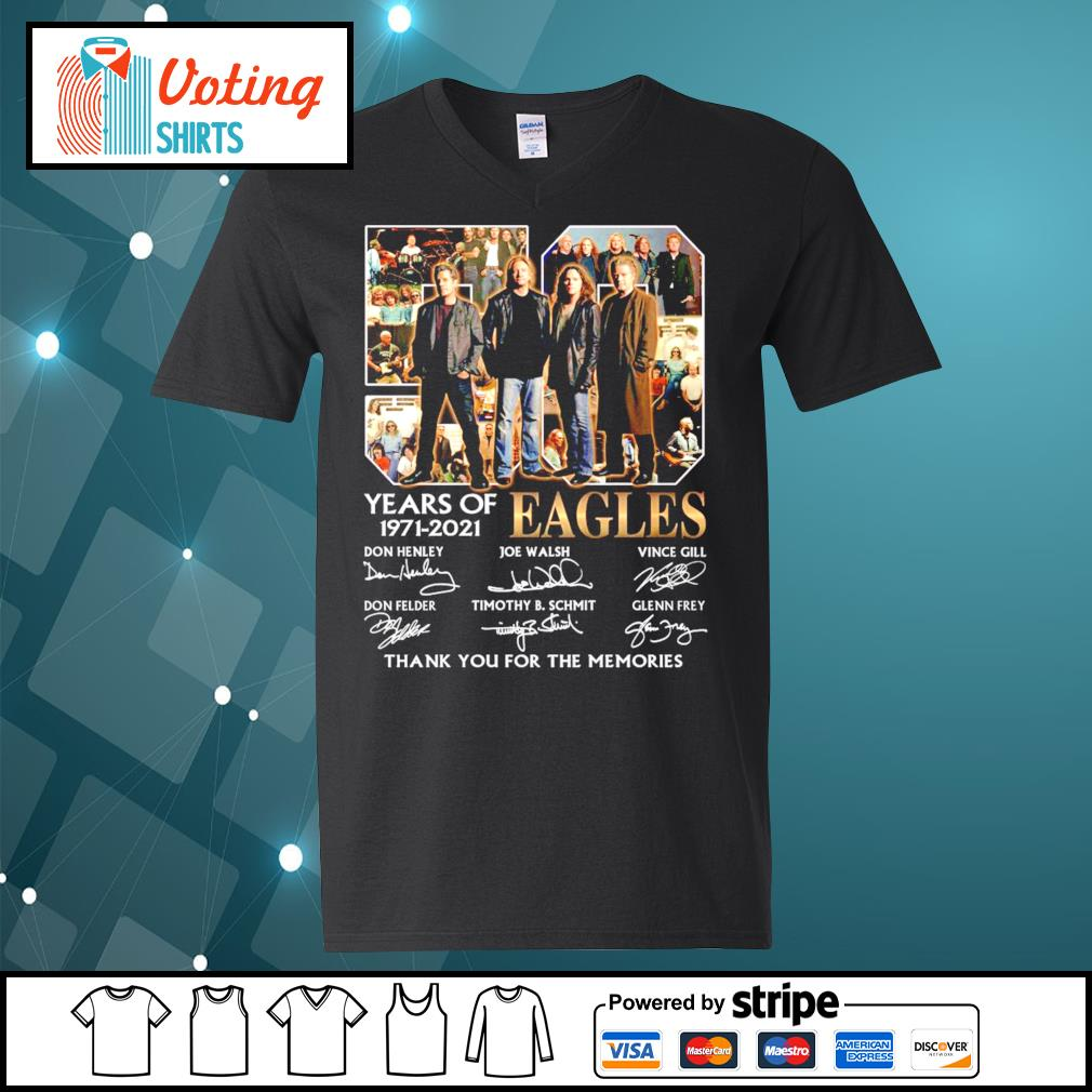 50 years of Eagles 1971-2021 thank you for the memories s v-neck-t-shirt