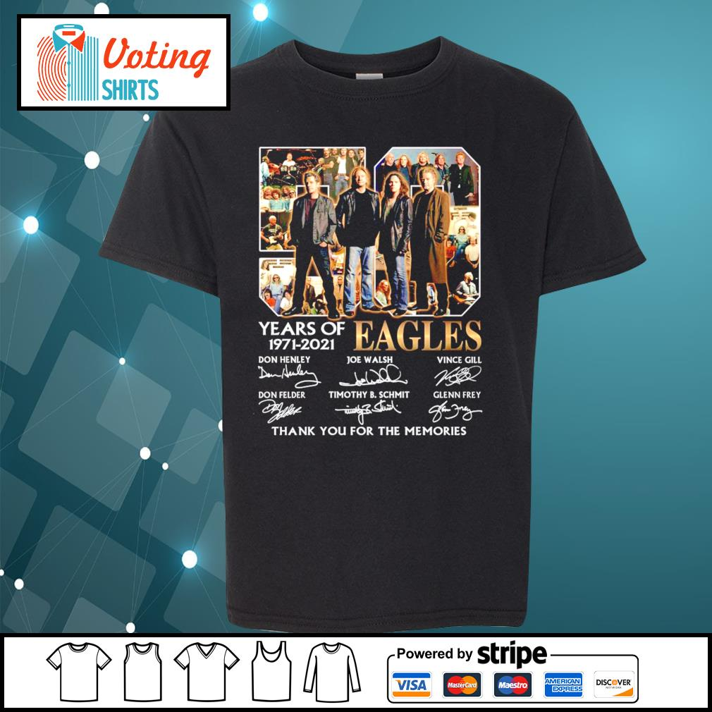 50 years of Eagles 1971-2021 thank you for the memories s youth-tee