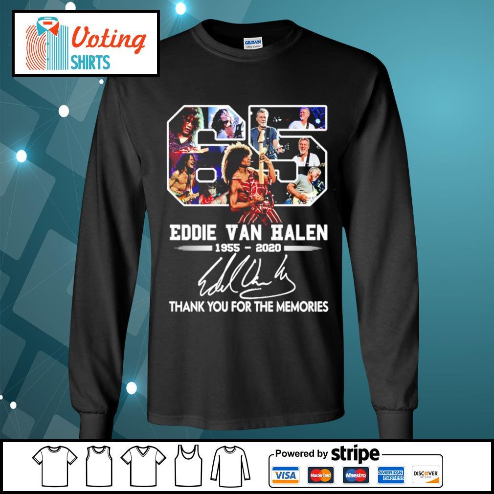 65 Eddie Van Halen 1955-2020 thank you for the memories s longsleeve-tee