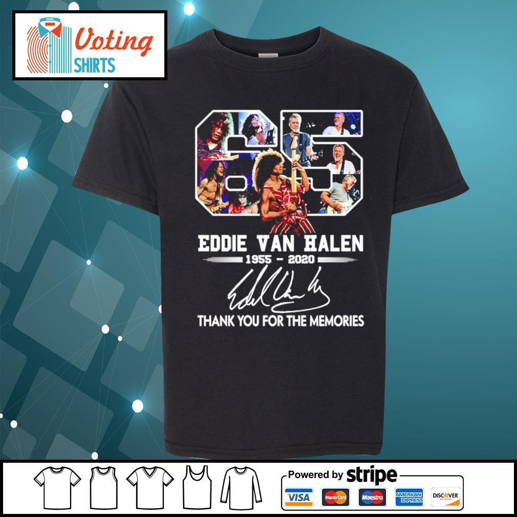 65 Eddie Van Halen 1955-2020 thank you for the memories s youth-tee