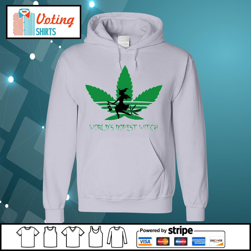 Adidas weed cannabis world's dopest witch s hoodie