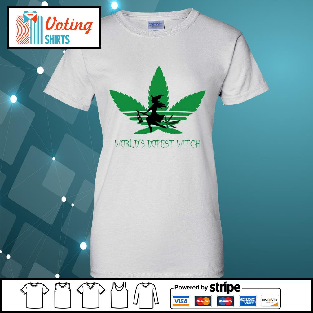 Adidas weed cannabis world's dopest witch s ladies-tee