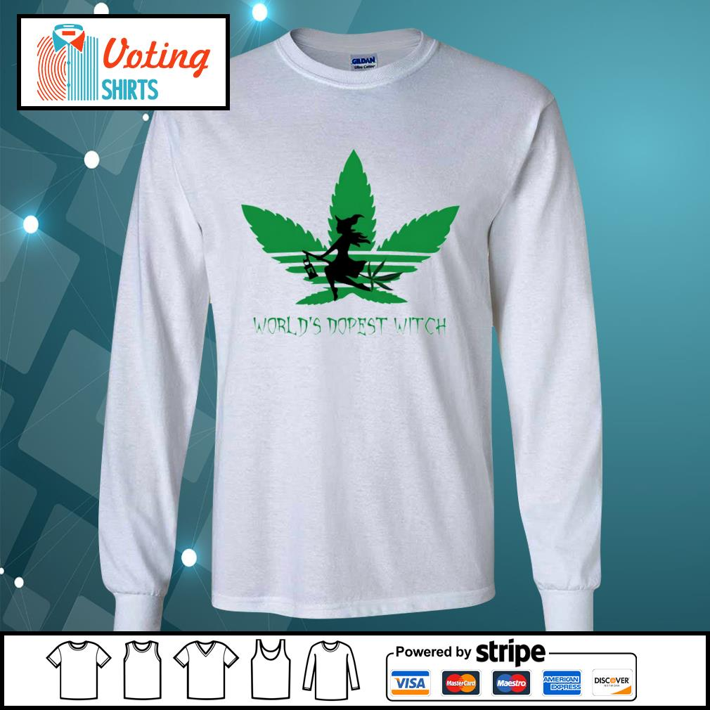 Adidas weed cannabis world's dopest witch s longsleeve-tee