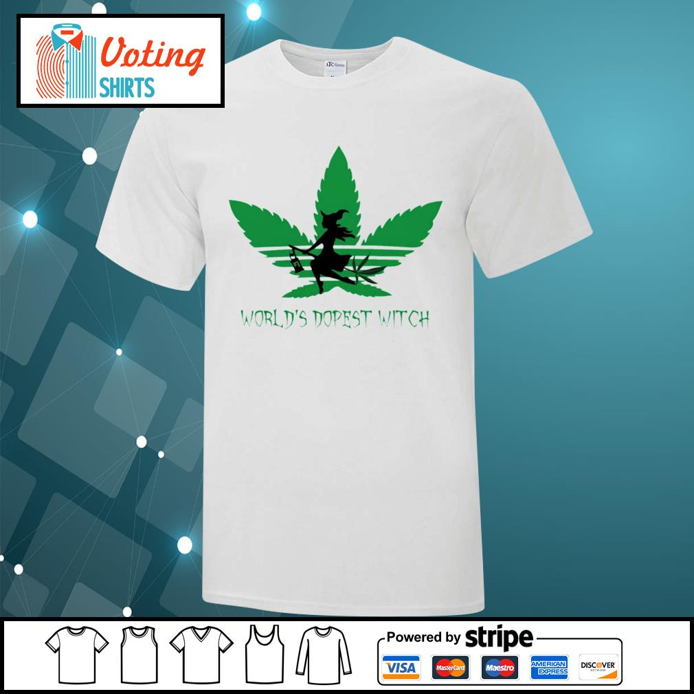 Adidas weed cannabis world's dopest witch shirt