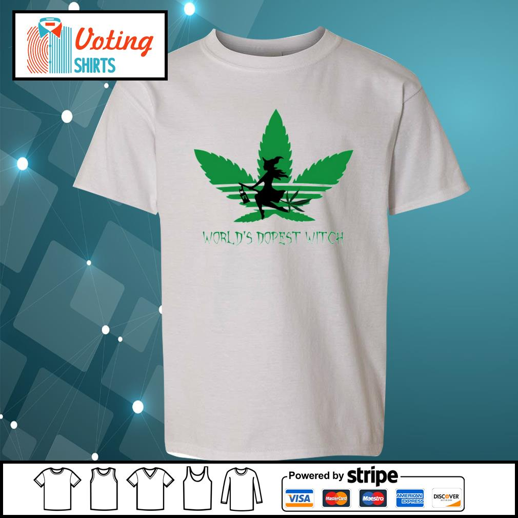 Adidas weed cannabis world's dopest witch s youth-tee