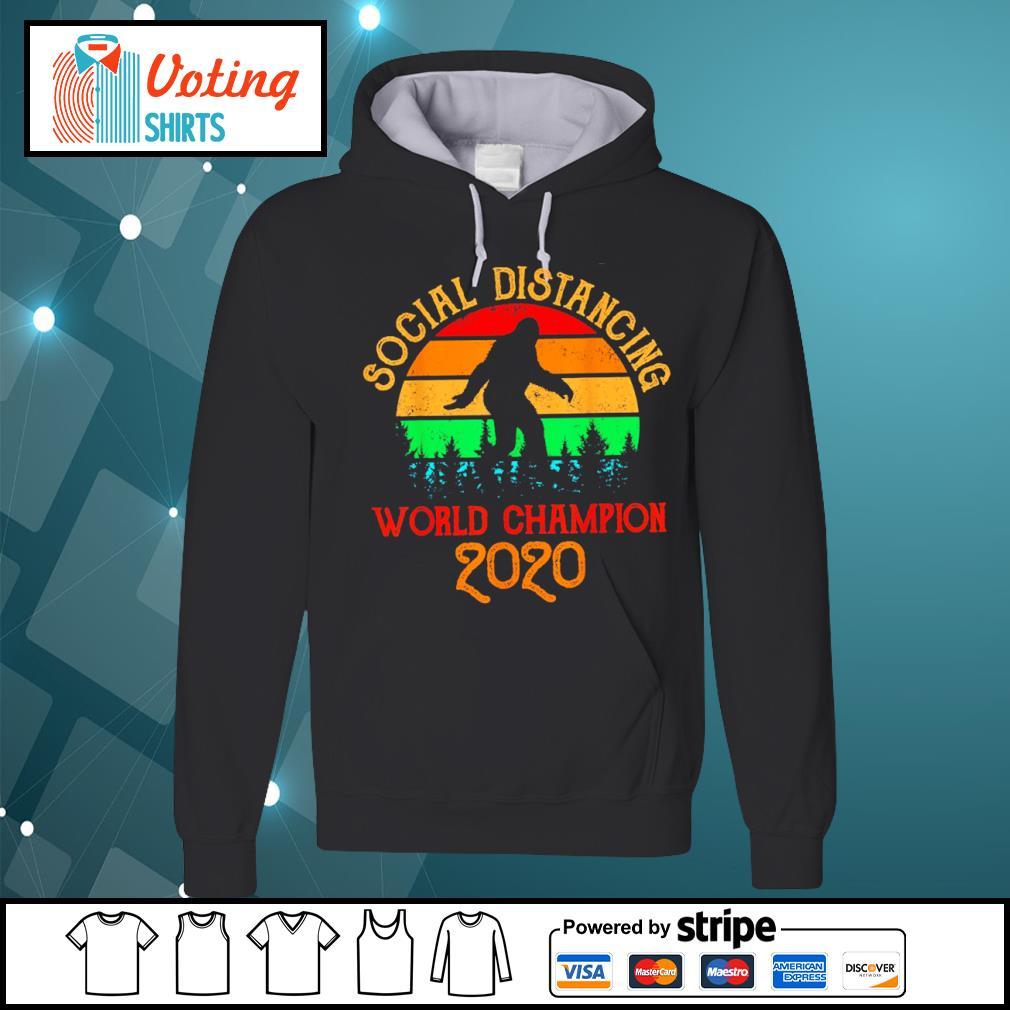 Bigfoot social distancing world champion 2020 vintage s hoodie