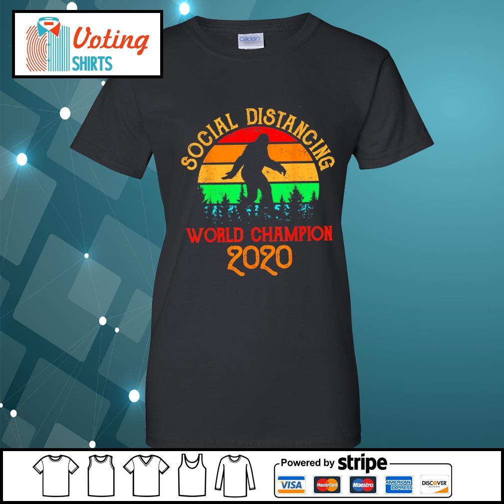 Bigfoot social distancing world champion 2020 vintage s ladies-tee