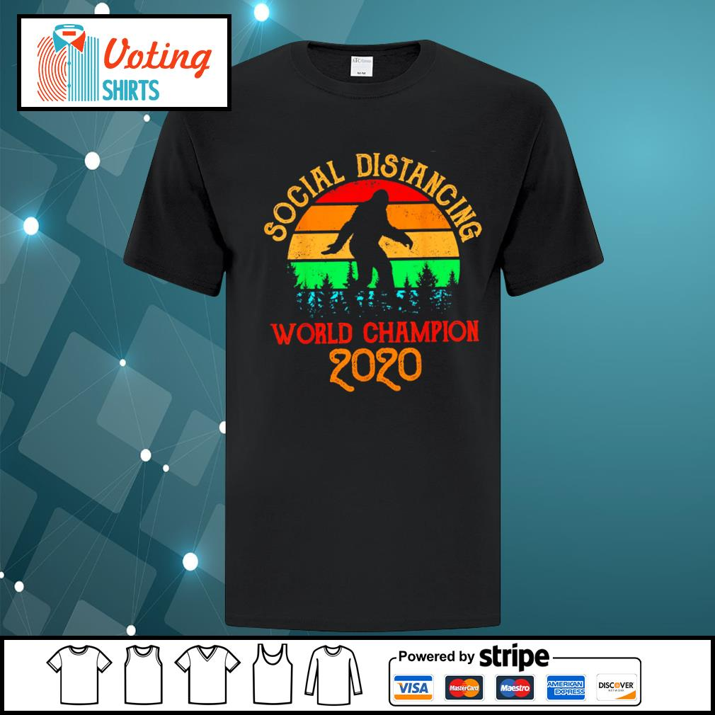 Bigfoot social distancing world champion 2020 vintage shirt