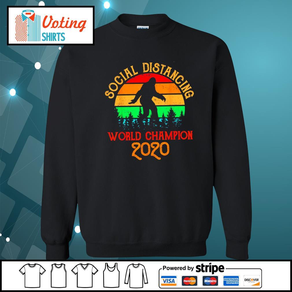 Bigfoot social distancing world champion 2020 vintage s sweater