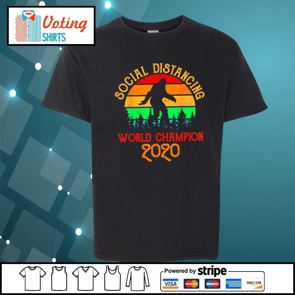 Bigfoot social distancing world champion 2020 vintage s youth-tee