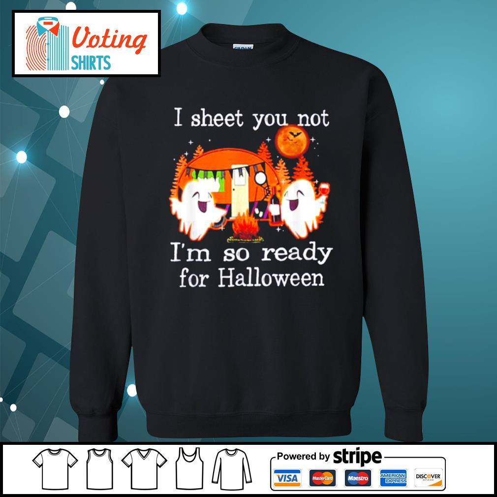 Camping I sheet you not I'm so ready for Halloween s sweater