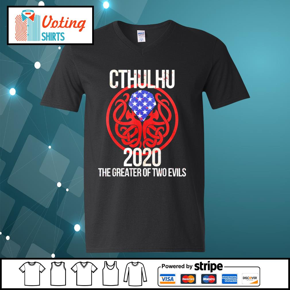 Cthulhu 2020 the greater of two evils s v-neck-t-shirt