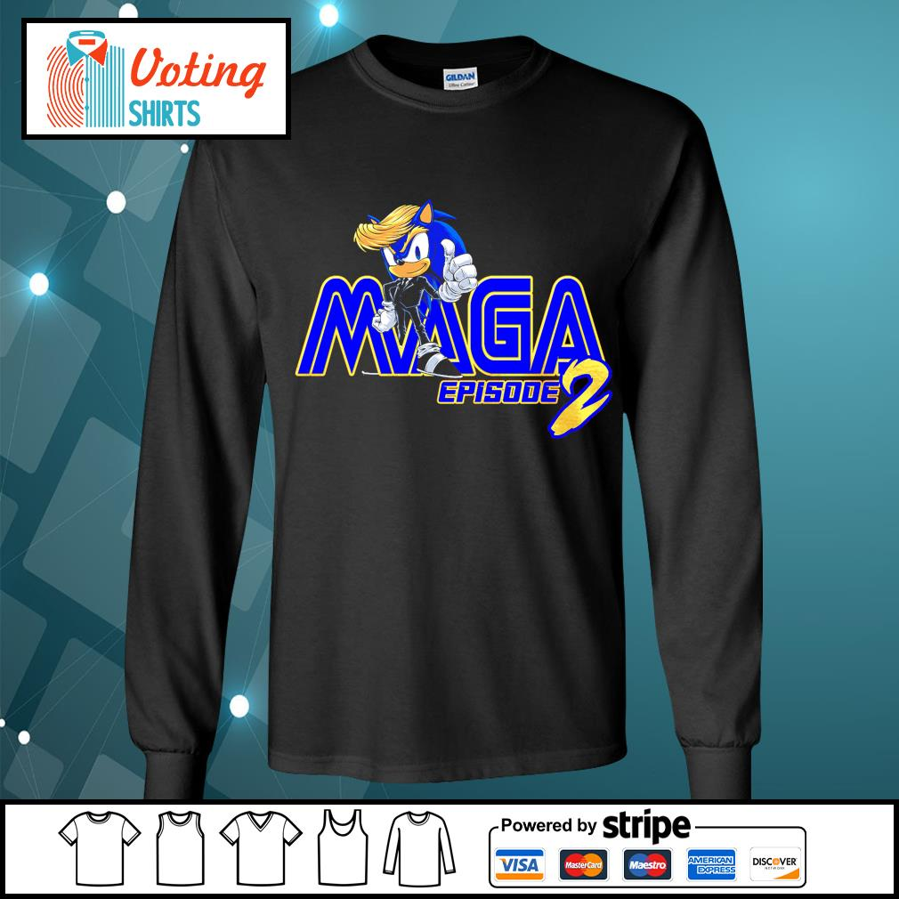 Donald Trump Sonic Maga episode 2 s longsleeve-tee