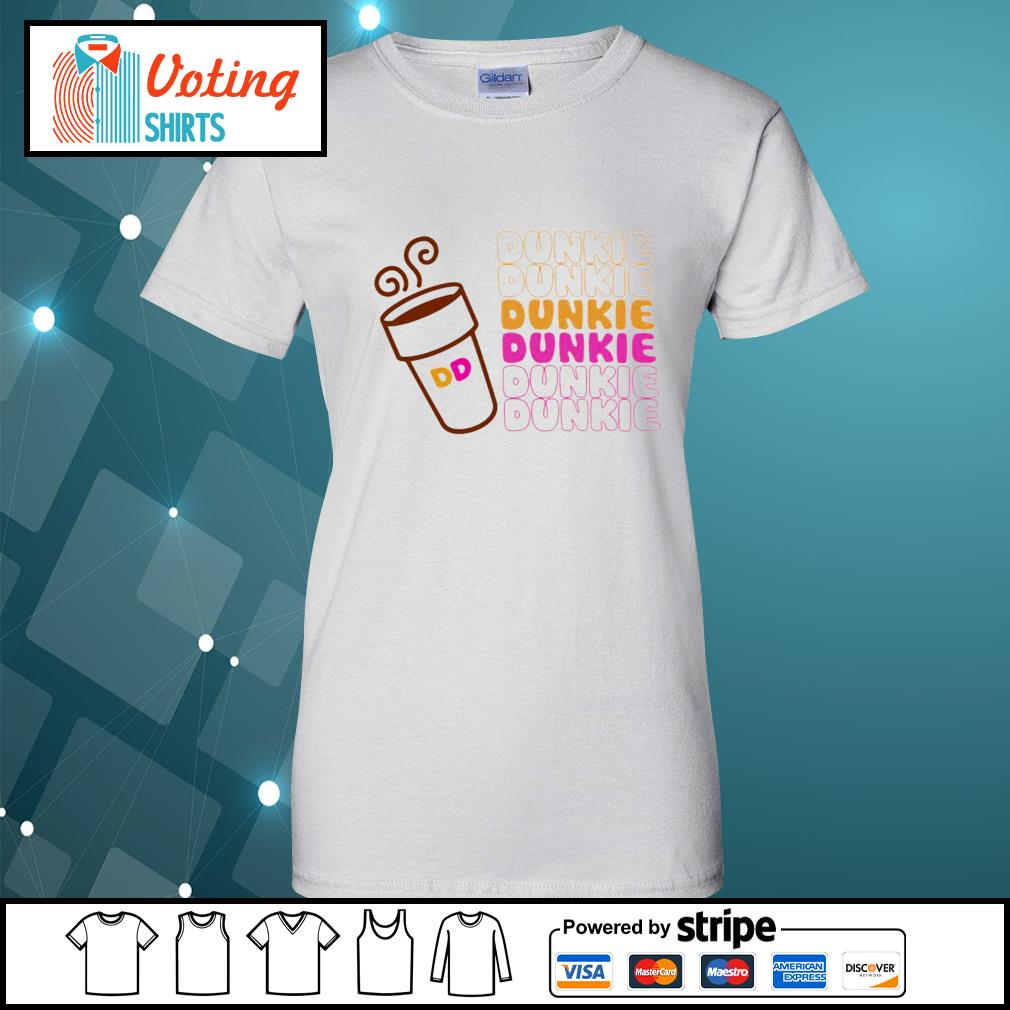 Dunkie Junkie Coffee s ladies-tee