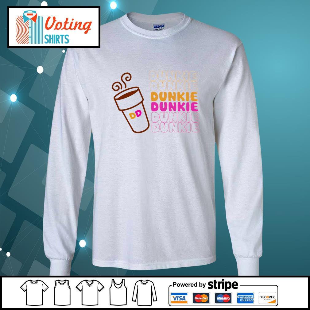 Dunkie Junkie Coffee s longsleeve-tee