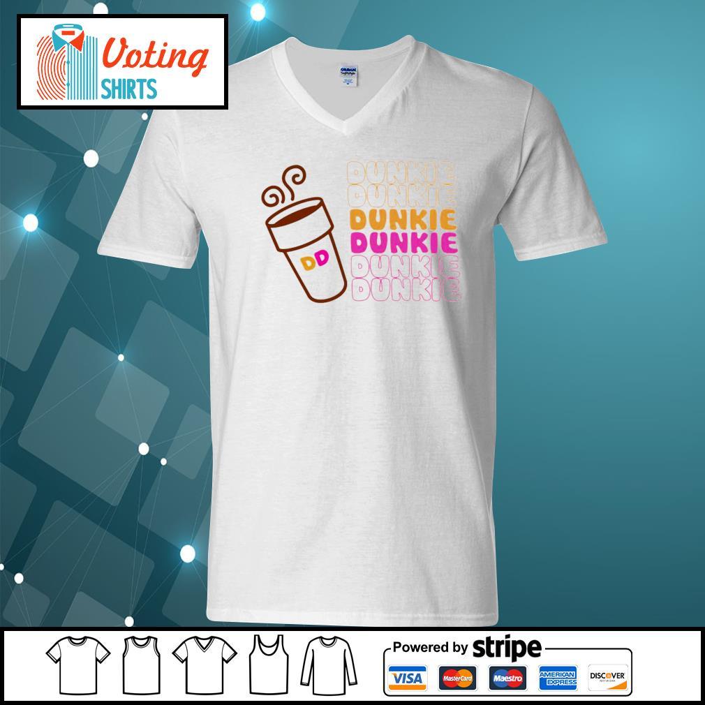 Dunkie Junkie Coffee s v-neck-t-shirt