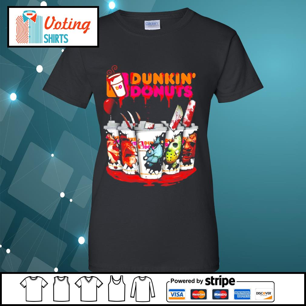 Dunkin' Donuts horror characters Tumbler cup s ladies-tee