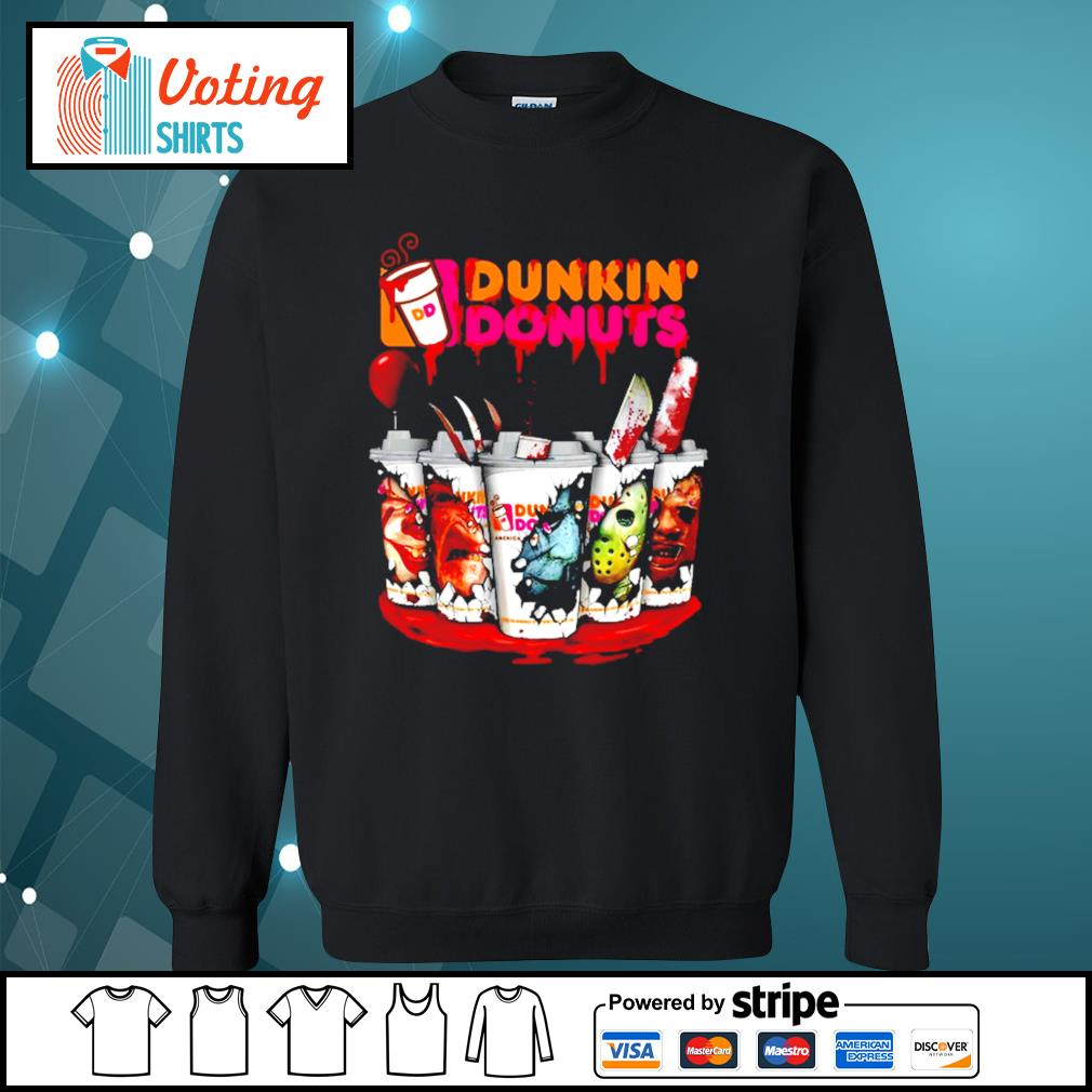 Dunkin' Donuts horror characters Tumbler cup s sweater