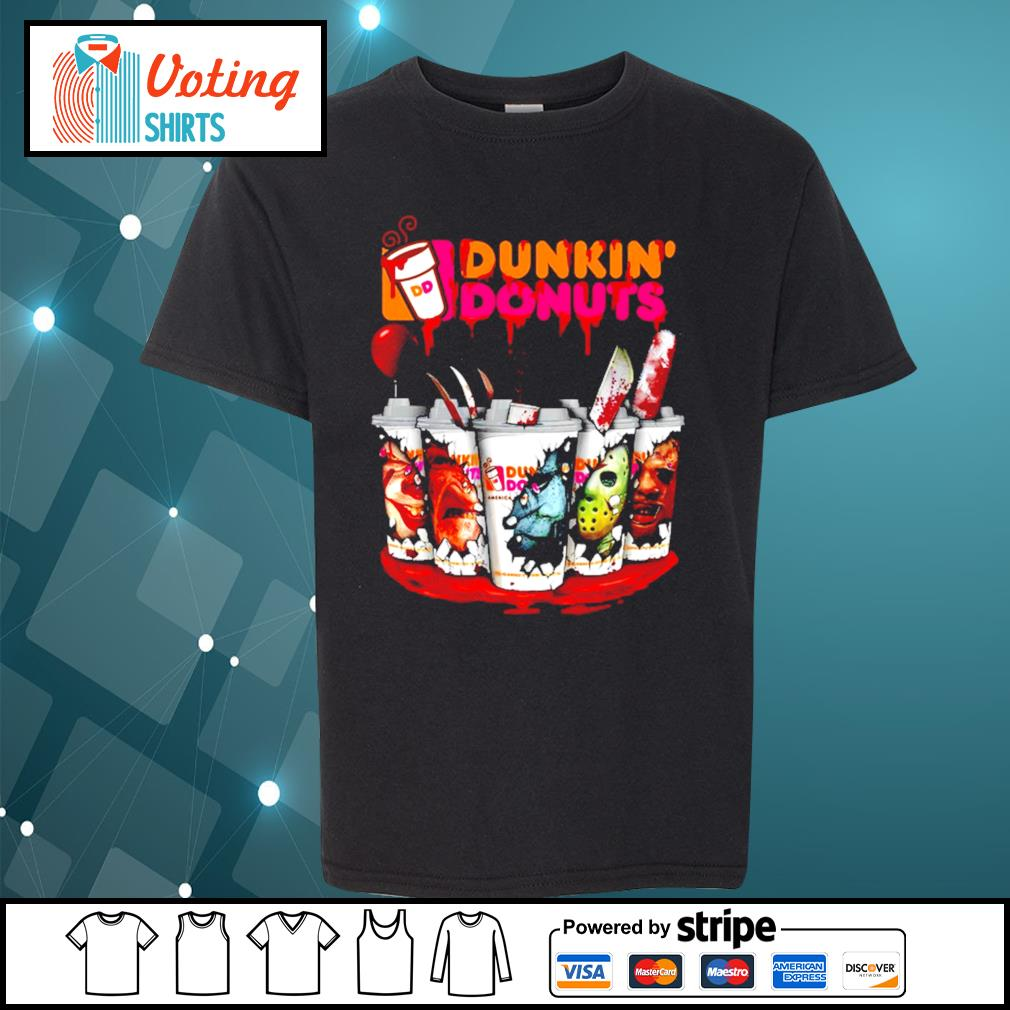 Dunkin' Donuts horror characters Tumbler cup s youth-tee