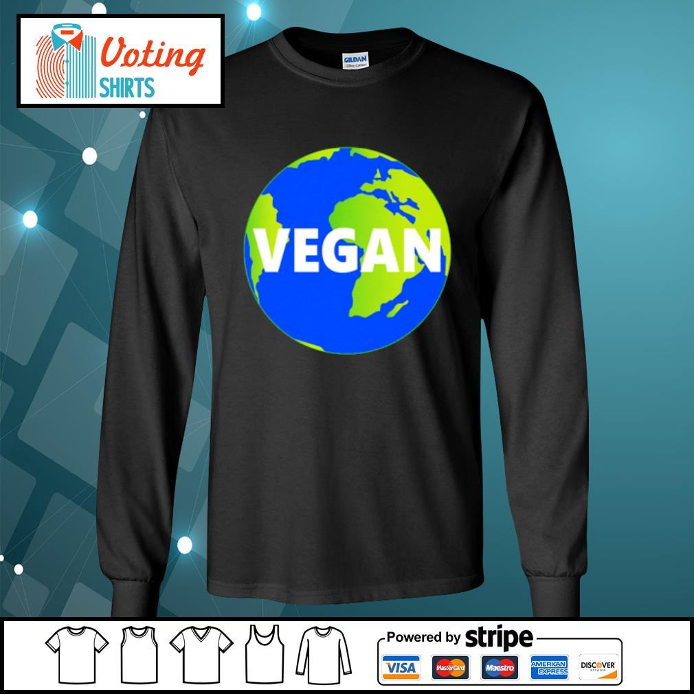 Earth Day vegan s longsleeve-tee